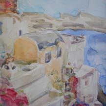 Houses on Santorini